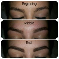 The perfect eye brow shape from beginning to end
